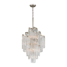 Corbett Mont Blanc 13-Light Traditional Chandelier in Modern Silver Leaf