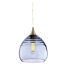 25 most popular contemporary pendant lights for 2018 houzz lucent pendant light no 302b steel blue brushed mozeypictures Choice Image