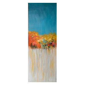 Colorful Abstract Flowers Poster Print by Atelier B Art Studio 24 x 48
