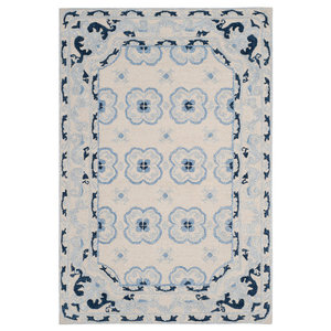 Winslow Hand Tufted Rug, Ivory/Blue, 4'x6'