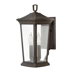 Hinkley Bromley Outdoor Small Wall Mount Lantern, Oil Rubbed Bronze