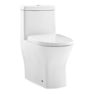 Sublime II Compact One-Piece Toilet, Dual Flush 0.8/1.28 GPF With Side Holes