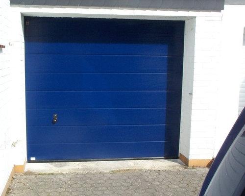 Designer garagentor  Garagentor Hörmann M-Sicke in blau