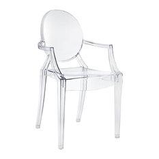 Casper Dining Armchair, Clear