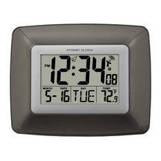 La Crosse Technology Atomic Digital Wall Clock With Temperature Clocks