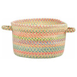 """Capel Rugs - Baby's Breath Braided Basket, Light Yellow, 16""""x16""""x9"""" - Reversible and durable, Capel braids are a hallmark of American tradition. Features: Construction: Braided Country of Origin: USASpecifications: Pile Height: 3/8"""" - 1/2"""""""