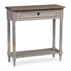 Urban Designs Edouard White Wash Distressed Two-tone 1-drawer Console Table