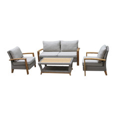 Harbor 4-Piece Teak and Wicker Seating Set