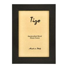 "Italian Wood Frame, Black, 8""x10"""
