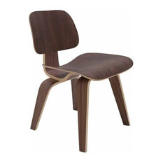 Wooden Dining Chair With Bent Frame