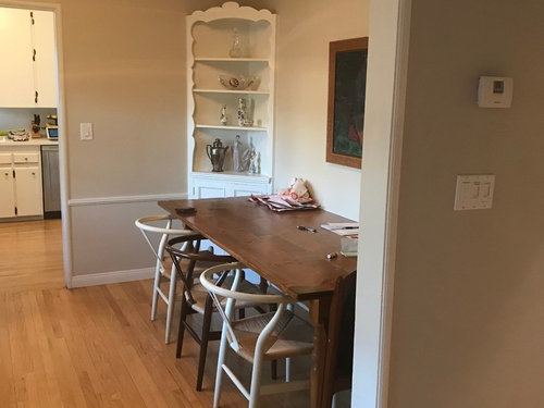 How Do You Arrange A Dining Room With Doorway On Either Side