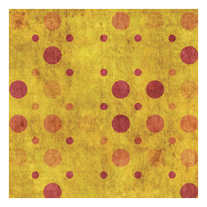 Golden Sunset Weathered Polka Dot, 36x24, Matte Paper