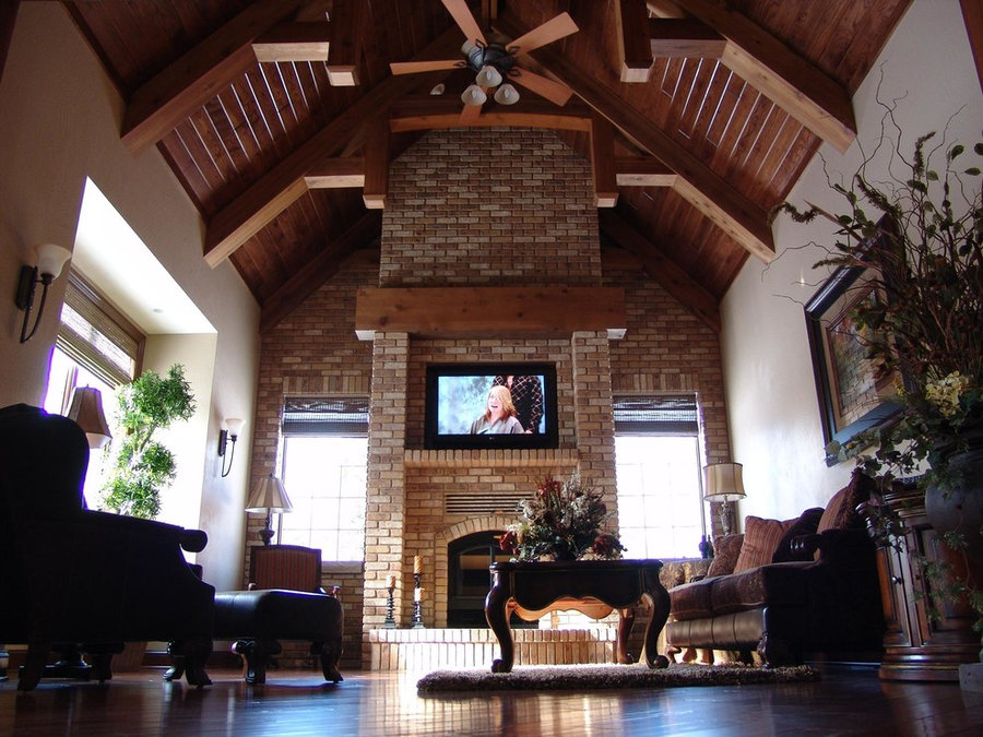 Grand Living Room Television Install