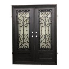 """Vatican 61""""x81"""" Iron Door, Square Top With kickplate, Left Hand Inswing"""