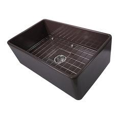 nantucket   nantucket sinks t fcfs30cb 30 inch coffee brown fireclay farmhouse kitchen sink   30 inch kitchen sinks   houzz  rh   houzz com