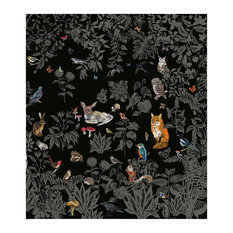 Foret Scenic Wallpaper, 8 Strips, Black