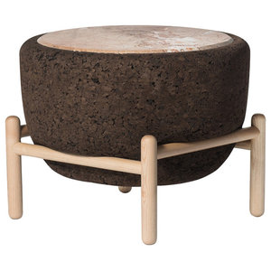 Magma Marble and Cork Coffee Table With Stand, Wide