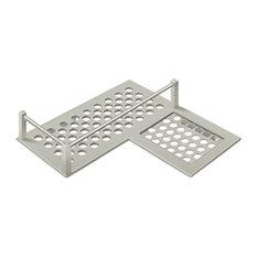 "WBHDCR9U15 Bathroom Basket HD Corner Right 9"" , Satin Nickel"