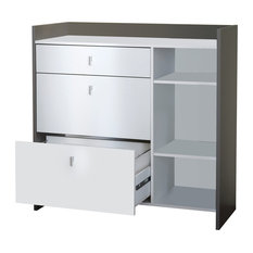 Battery 3-Nook Microwave Cart
