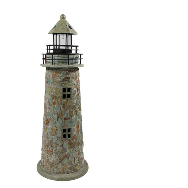 Cobblestone Solar LED Lighthouse, 35