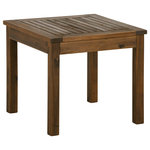 "Offex - Offex 20"" Wood Patio Simple Square Side Table - Dark Brown - Description"