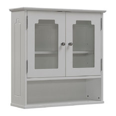 White All Wood Wall Cabinet