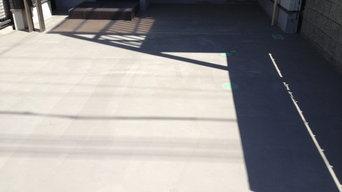 駐車場リフォーム 吹き付け工事