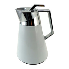 Isothermic Cafetiere, White and Chrome