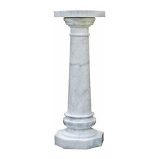 White Versailles Marble Column Plant Stand
