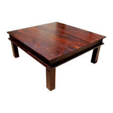 Merveilleux Sierra Living Concepts   Rustic Solid Wood Large Square Coffee Table    Coffee Tables