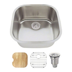 MR Direct Sinks And Faucets   2020 Stainless Steel Bar Sink Ensemble, 16  Gauge