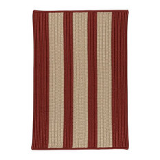 """Boat House Rug, Rust Red 2'x3', Red, 14""""x17"""""""
