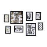Black Wall Mounted Photograph Frames, Set of 8
