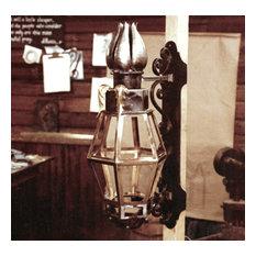 iron and bronze lantern in progress