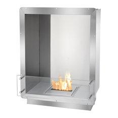 Polished Concrete Fireplace Surround   Houzz