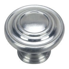 Hardware House 1 3/8in Cabinet Ring Knob, Satin Nickel