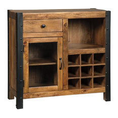 Ashley Furniture Homestore   Glosco Wine Cabinet In Warm Brown D548 060    Wine And
