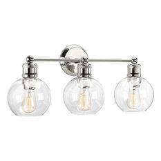 "Hansford 3 Light 24-1/2"" Bathroom Vanity Light, Polished Nickel"