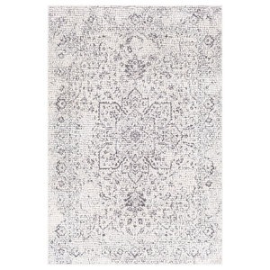 "Venezia Updated Traditional Light Gray, Beige Area Rug, 3'11""x5'7"""