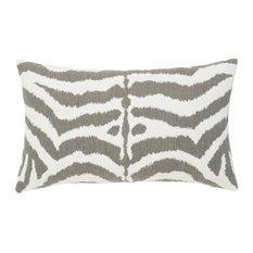 Zebra Gray Lumbar Pillow