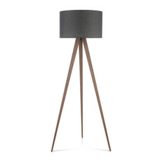 50 most popular wooden floor lamps for 2018 houzz mod maya tripod floor lamp dark gray and black walnut floor lamps aloadofball Images