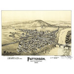 """Ted's Vintage Art - Old Map of Patterson Pennsylvania 1895, Vintage Map Art Print, 24""""x36"""" - Old Map of Patterson, Pennsylvania - 1895"""