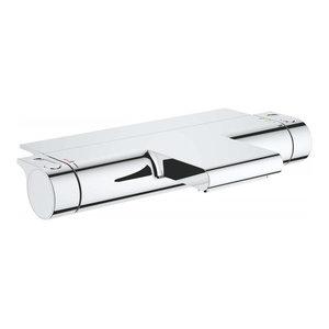 Modern Chrome Thermostatic Bath Mixer Tap With Aqua Paddles, Elegant Design