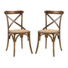 Gear Dining Side Chair Set of 2, Walnut