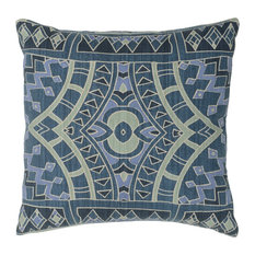 "Granada Cotton 18"" Throw Pillow, Blue by Kosas Home"