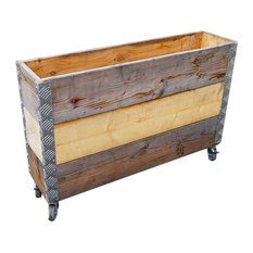 Upcycled Pallet Long Wheeled Box, 3 Layers