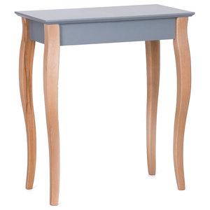 Lilo Small Scandinavian Console Table, Dark Grey