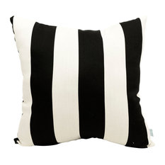 Majestic Home Goods - Outdoor Black Vertical Stripe Large Pillow - Outdoor Cushions and Pillows