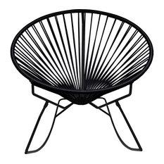 Innit Designs Innit Rocker Chair, Black Base, Black