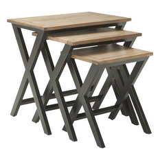 Safavieh Jack Stacking Tray Tables 3-Piece Set